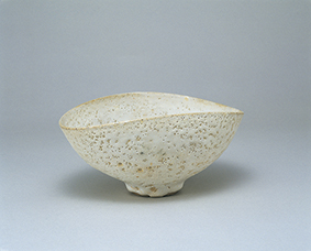 Lucie Rie, Bowl, stoneware, pitted white glaze(1970's)